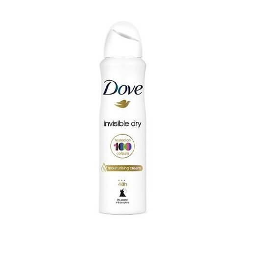 اسپری ضد تعریق زنانه داو مدل Invisible Dry 150ml مناسب برای پوست خشک