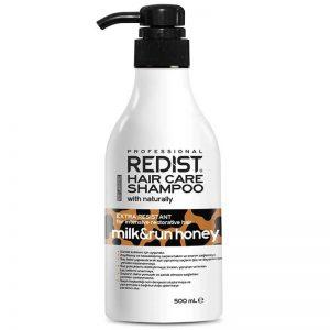 شامپو مراقبتی مو شیر و عسل Redist حجم 500 میلی