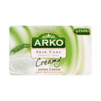 صابون کرمی دست و صورت Arko با خاصیت نرم کنندگی وزن 90 گرم