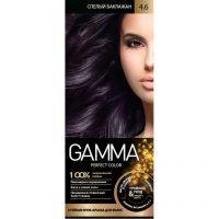 کیت رنگ موی گاما شماره 4/6 رنگ بادمجانی