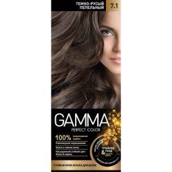 کیت رنگ موی گاما شماره 7/1 رنگ بلوند خاکستری