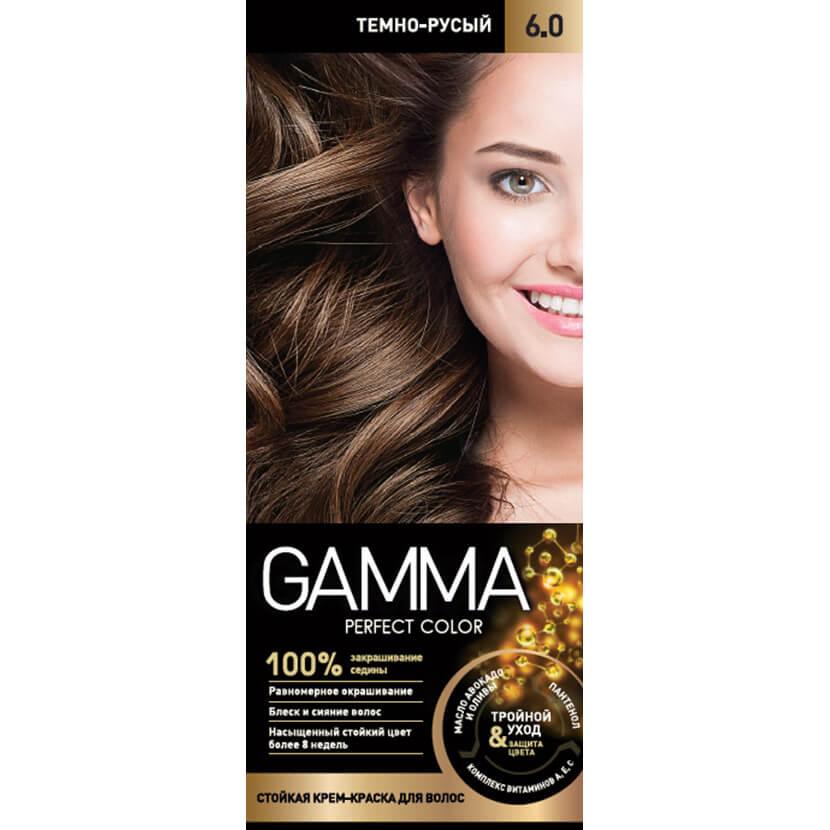 کیت رنگ موی گاما شماره 6/0 رنگ بلوند تیره