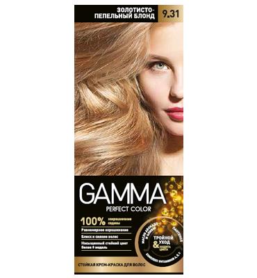 رنگ موی بدون آمونیاک گاما شماره 9/31 رنگ بلوند خاکستری روشن