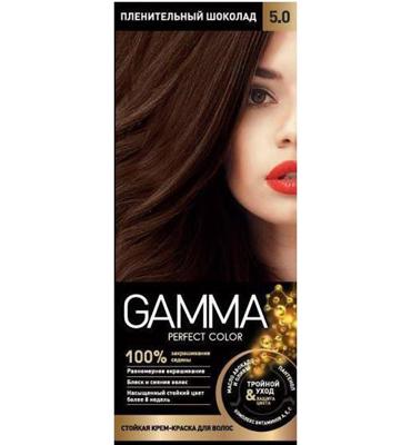 رنگ موی بدون آمونیاک Gamma شماره 5/0 رنگ شکلاتی