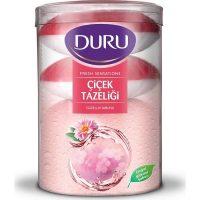 صابون حمام دورو DURU با رایحه گل تازه بسته 4 عددی