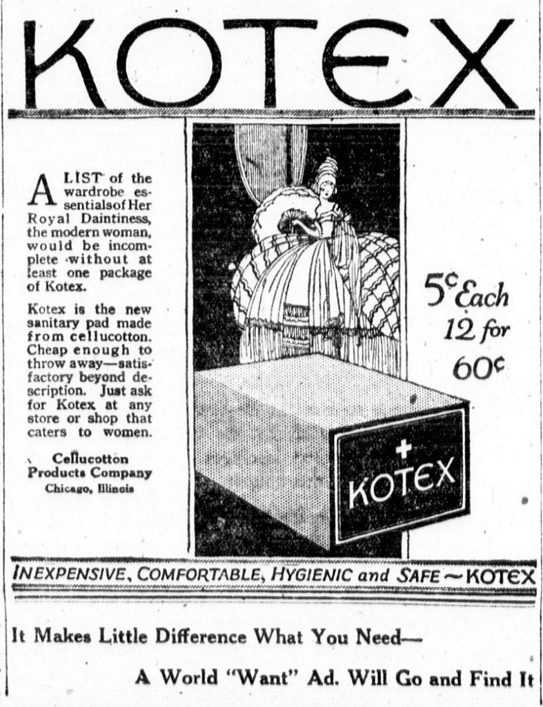 تاریخچه محصولات بهداشتی کوتکس