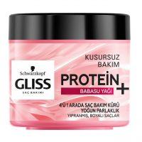 ماسک موی + Protein گلیس برای موهای آسیب دیده و رنگ شده حاوی روغن babasu حجم 400 میلی