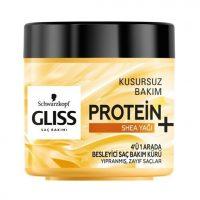 ماسک موی 4 کاره پروتئینه گلیس حاوی روغن شیا باتر برای تغذیه موهای ضعیف و آسیب دیده حجم 400 میلی