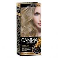 کیت رنگ موی گاما شماره 8/0 رنگ بلوند روشن
