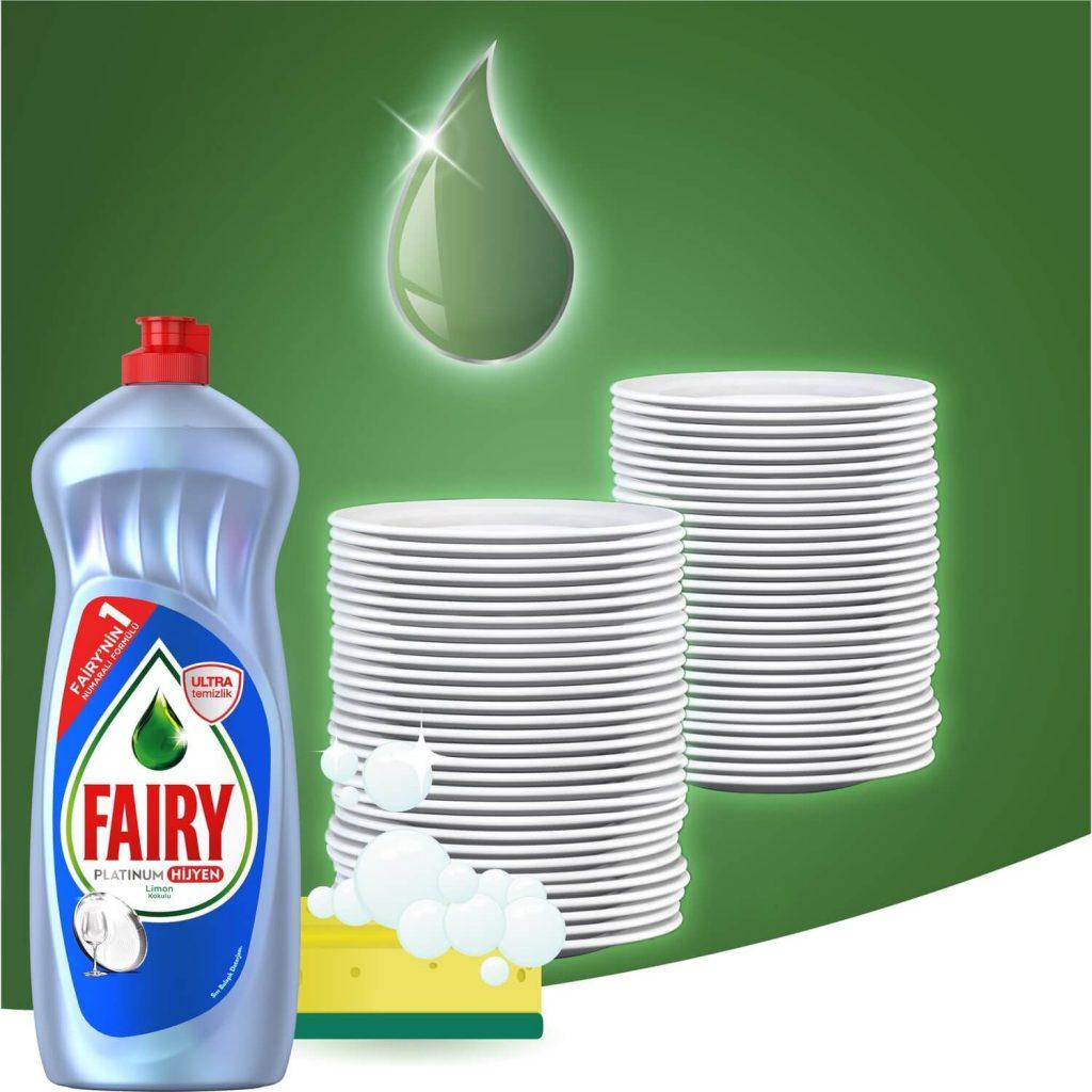 مایع شستشوی دستی ظروف Fairy Platinum با رایحه لیمویی حجم 750 میلی