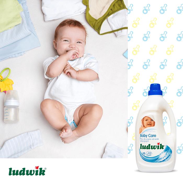 مایع لباس کودک ضد حساسیت لودویک Ludwik حجم 1.5 لیتری