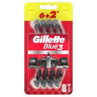 ژیلت بلو تری قرمز Blue3 مدل Nitro بسته 8 عددی