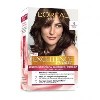 رنگ موی شماره 4 لورال رنگ قهوه ای تیره سری Excellence