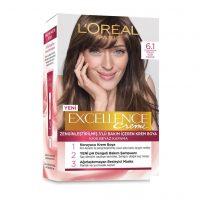 رنگ موی شماره 6.1 لورال loreal رنگ خاکستری روشن سری Excellence