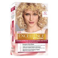 رنگ موی شماره 10 لورال loreal رنگ بلوند روشن سری Excellence