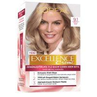 رنگ موی شماره 9.1 لورال loreal رنگ بلوند دودی سری Excellence
