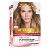 رنگ موی شماره 7.31 لورال loreal رنگ عسلی سری Excellence
