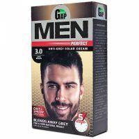 رنگ موی مردانه گپ شماره 3.0 رنگ قهوه ای تیره مدل Men Perfect