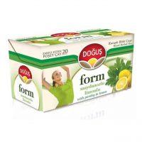 چای و دمنوش لاغری دوغوش ترکیه - طعم لیمو جعفری Form Dogus