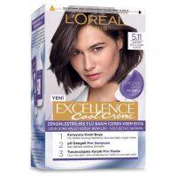 رنگ موی شماره 5.11 لورال پاریس رنگ قهوه ای دودی روشن سری Excellence