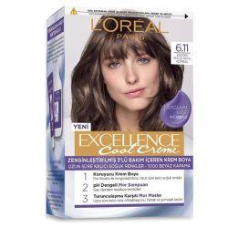 رنگ موی شماره 6.11 لورال پاریس رنگ خاکستری تیره دودی سری Excellence