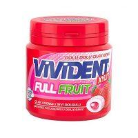 آدامس دراژه بشکه ای ویویدنت با طعم توت فرنگی مدل FUll Fruit وزن 90 گرم