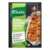 چاشنی مرغ کنور Knorr با طعم ریحان و آویشن و کنجد 29 گرمی